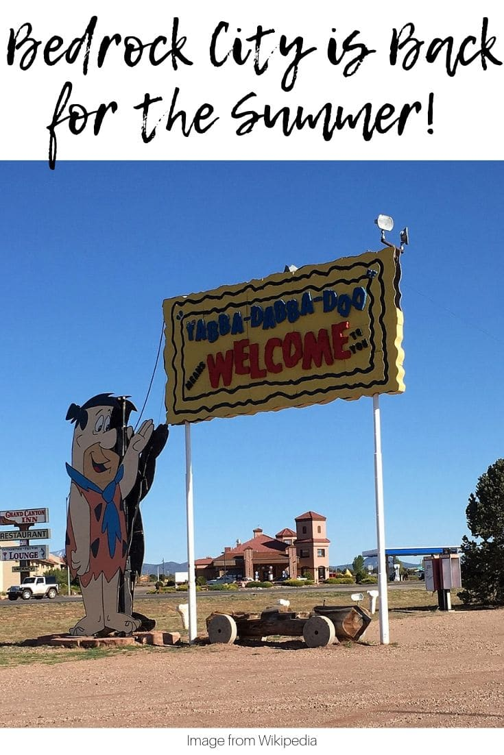 Bedrock city is open once more! The roadside attraction was purchased and shut down but the new owner decided it deserved one last run and now it's back open for the summer! You can come and enjoy one last hurrah at this adorable homage to the Flintstone's family.